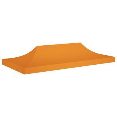 vidaXL Tak till partytält 6x3 m orange 270 g/m²