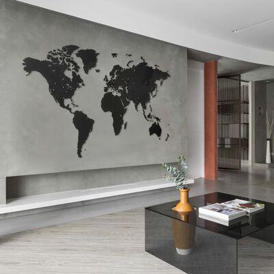 MiMi Innovations Väggdekoration världskarta Giant svart 280x170 cm