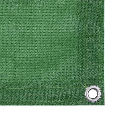 vidaXL Balkongskärm ljusgrön 75x500 cm HDPE