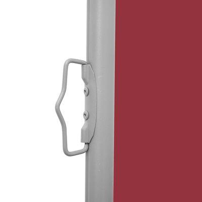 vidaXL Infällbar sidomarkis röd 100x600 cm