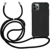 Iphone 12/12 Pro Skal Med Halsband Svart