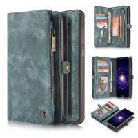 CASEME Samsung Galaxy S8 Retro läder plånboksfodral - Blå