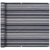 vidaXL Balkongskärm oxfordtyg 75x600 cm randig grå
