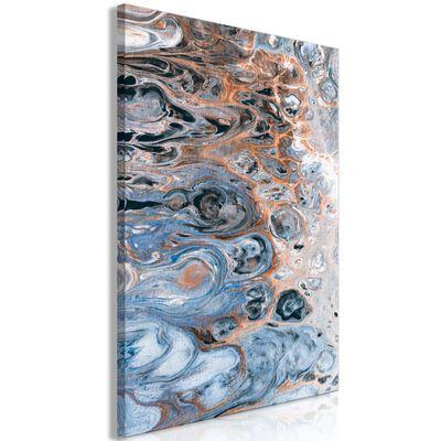 Tavla - Sienna Blue Marble (1 Part) Vertical - 40x60 Cm