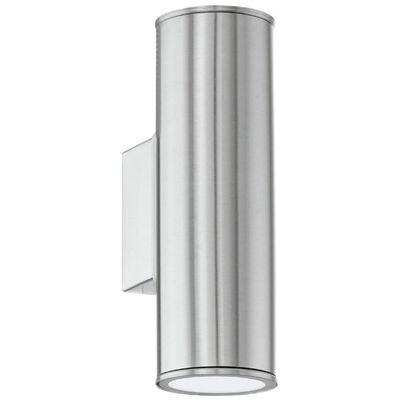 EGLO Utomhusvägglampa LED Riga silver 94107