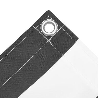 vidaXL Balkongskärm antracit och vit 120x400 cm oxfordtyg