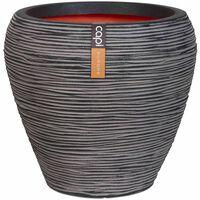 Capi Vase Nature Rib avsmalnande 42x38 cm antracit KOFZ362