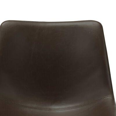 vidaXL Matstolar 4 st mörkbrun konstläder