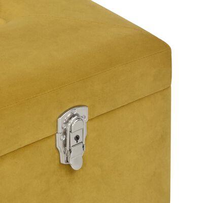 vidaXL Bänk med förvaringsutrymme senapsgul 80 cm sammet