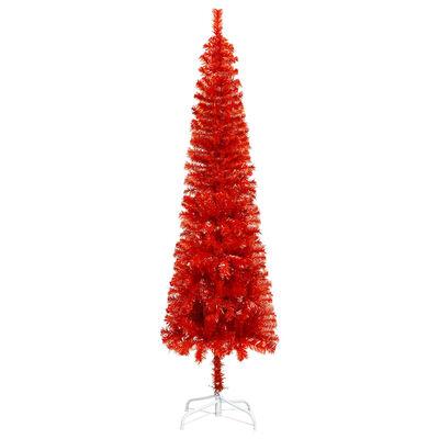 vidaXL Julgran smal röd 120 cm