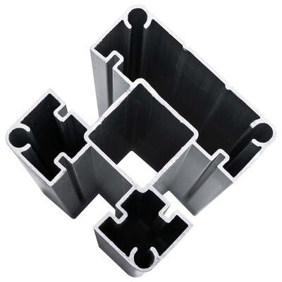 vidaXL Staketpaneler WPC 1484x(105-186) cm svart  ,