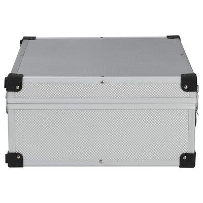 vidaXL Verktygsväska 46x33x16 cm silver aluminium