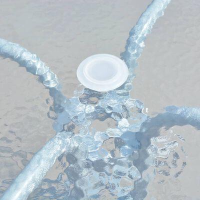 vidaXL Cafébord grå 80x71 cm stål,