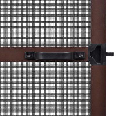 vidaXL Insektsnät med gångjärn för dörrar 100 x 215 cm brun
