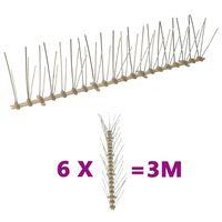vidaXL 5-raders Fågelpiggar plast 6 st 3 m