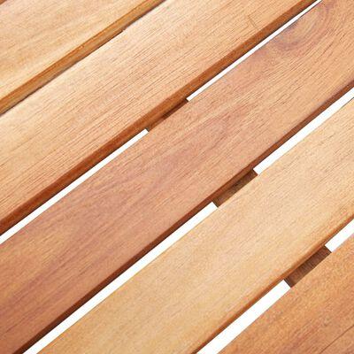 vidaXL Trädgårdsbord svart 200x200x74 cm konstrotting och akaciaträ