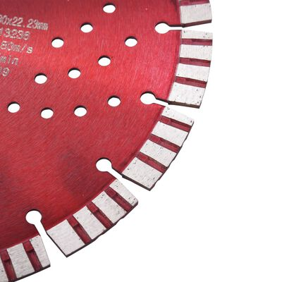 vidaXL Diamantklinga med Turbo Steel och hål 230 mm