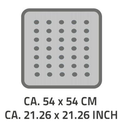 RIDDER Halkfri duschmatta Capri pergamon 54x54 cm