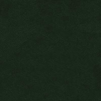 vidaXL Matstolar 6 st mörkgrön sammet