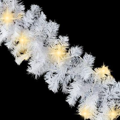 vidaXL Julgirlang med LED-lampor 20 m vit