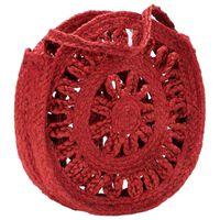 vidaXL Rund axelväska ihålig roströd handgjord jute