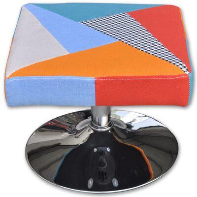 vidaXL TV-fåtölj med lapptäcke tyg