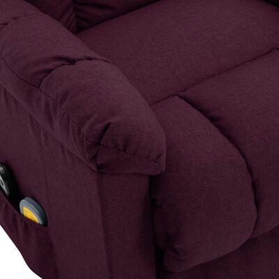 vidaXL Massagefåtölj med uppresningshjälp lila tyg