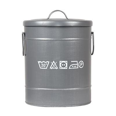 LABEL51 Tvättkorg 26x26x33 cm S antikgrå