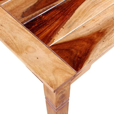 vidaXL Matbord i massivt sheshamträ 82x80x76 cm