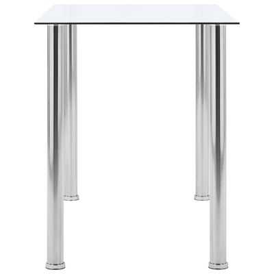 vidaXL Matbord transparent 120x60x75 cm härdat glas