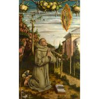 The Vision of the Blessed Gabriele,Carlo Crivelli,60x37cm