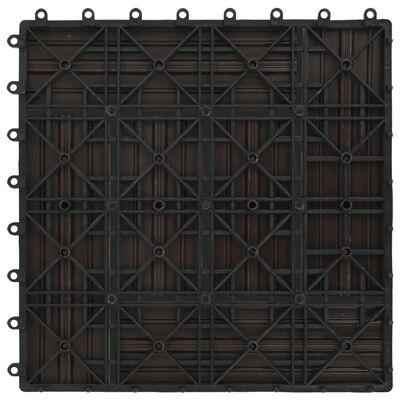 vidaXL Trall 11 st WPC 30x30 cm 1 kvm mörkbrun