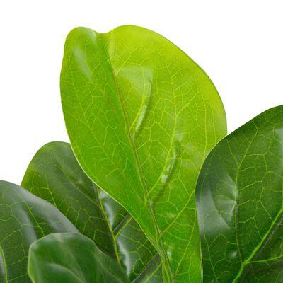 vidaXL Konstväxt Fiolfikus med kruka 90 cm grön,