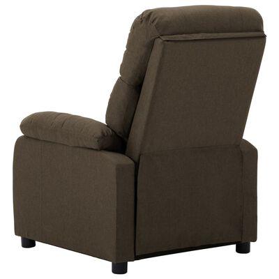 vidaXL Elektrisk reclinerfåtölj brun tyg