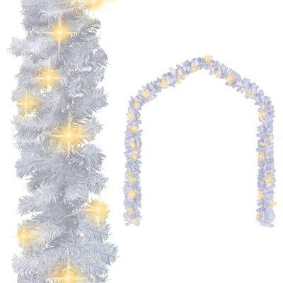 vidaXL Julgirlang med LED-lampor 10 m vit
