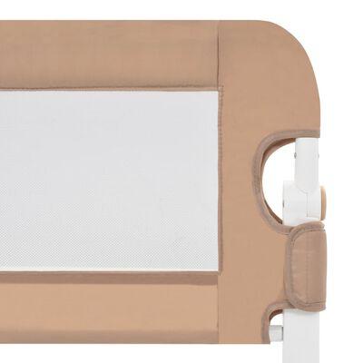 vidaXL Sängskena för barn taupe 120x42 cm polyester