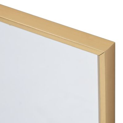 vidaXL Väggspegel 80x60 cm guld
