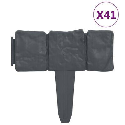 vidaXL Rabattkant stendesign 41 st plast 10 m
