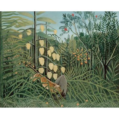 Fight Between a Tiger and a Bull,Henri Rousseau,50x40cm,