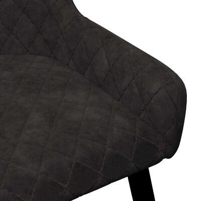 vidaXL Matstolar 4 st svart sammet