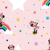Kids at Home Tapet Rainbow Minnie rosa
