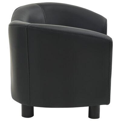 vidaXL Hundsoffa svart 67x41x39 cm konstläder