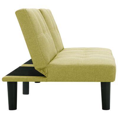 vidaXL 2-sitssoffa grön tyg