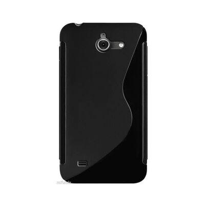 S Line silikon skal Huawei Ascend Y550 Svart