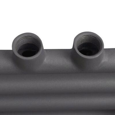 Handdukstork centralvärme element båge grå 480 x 480 mm