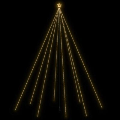 vidaXL Julgran LED inomhus/utomhus 1300 lysdioder 8 m