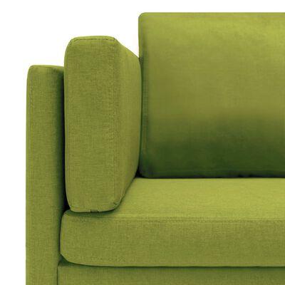 vidaXL Hörnsoffa grön tyg