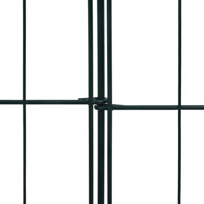 vidaXL Staket till damm 115x79 cm grön