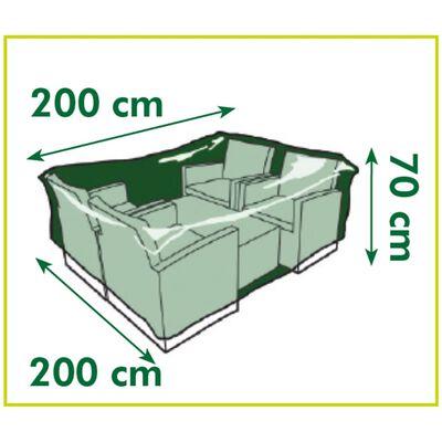 Nature Överdrag för lågbord och stolar 200x200x70 cm