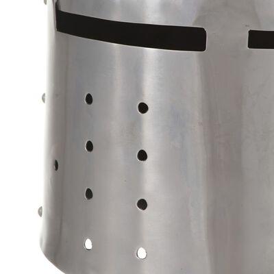 vidaXL Tysk riddarhjälm för LARP silver stål